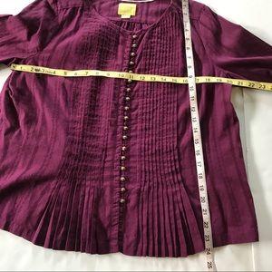 Anthropologie Tops - EUC Anthro Maeve Burgundy Cotton ButtonDown Blouse